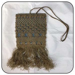 Macrame Lace Short Hippie Messenger Bag